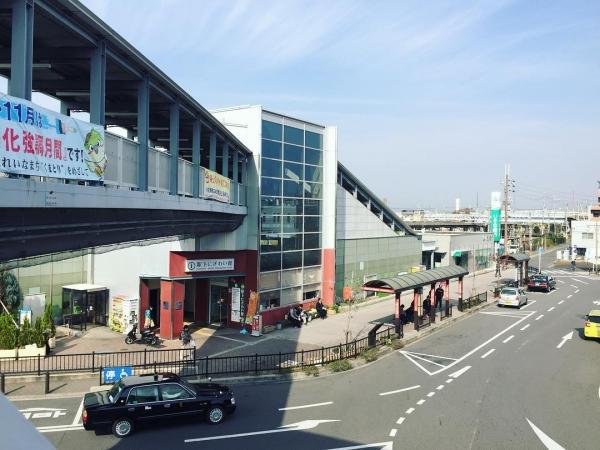 JR熊取駅でうまいガイドのポスターを発見!