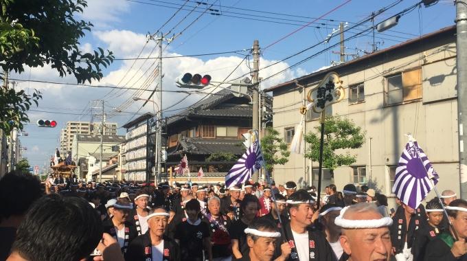 1サムネイル岸和田祭り試験曳き